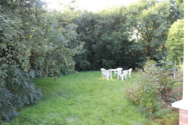 Although the back garden looks quite large from this angle, you can only see a third of the eventual land we revealed