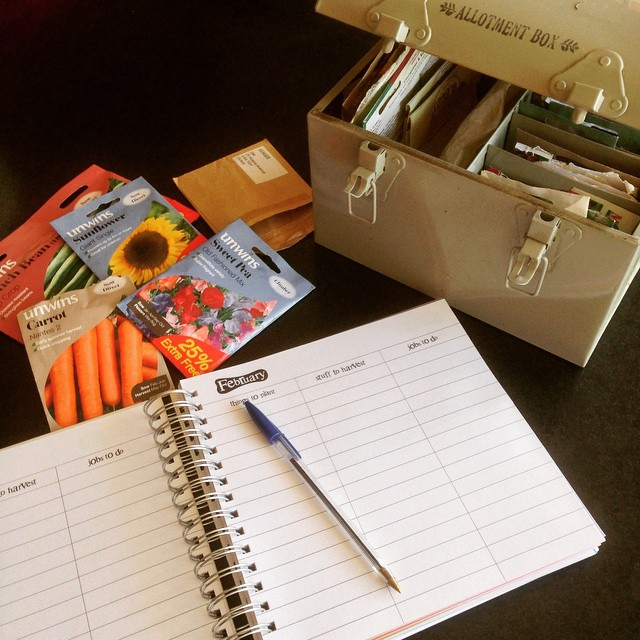 I get my books and planners out in January to learn about what I'm going to grow